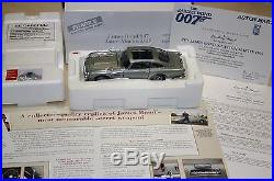 DANBURY MINT ASTON MARTIN JAMES BOND DB5 1st EDITION BOX & CERTIFICATE