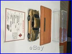 DANBURY MINT JAMES BOND 007 ASTON MARTIN DB5 22K GOLD 124 withTITLE