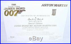 Danbury Mint 124 JAMES BOND 007 ASTON MARTIN DB. 5 GOLD PLATED + DISPLAY MIB
