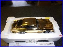 Danbury Mint Aston Martin James Bond Gold Db5 With Original Box & Certificate