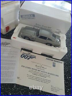 Danbury Mint Aston Martin James Bond Silver Birch Db5 Coupe With Paperwork