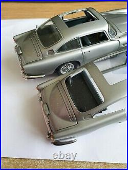 Danbury Mint Aston Martin James Bond Silver Birch Db5 X2 For Spares Or Repair