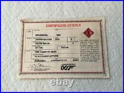 Danbury Mint James Bond 007 Aston Martin DB5 124 Box And Papers