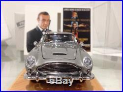Danbury Mint James Bond Aston Martin DB5 Goldfinger Spy Car 124 + Display Case