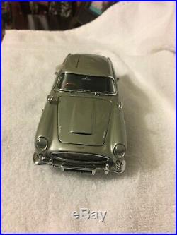 Danbury Mint silver Aston Martin James Bond car