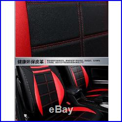 Deluxe Vehicle Car Chair Cushion Seat Decor Cover Mat Pad & Steering Wheel Cover
