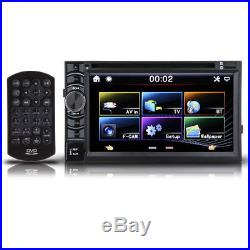 Double 2 Din FM Bluetooth Radio Audio Stereo Car Video Player + HD Camera Hot