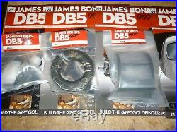 Eaglemoss un built James Bond's Aston Martin DB5. Parts & magazines, 1 to 86