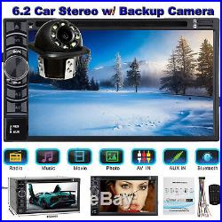 For Audi A1 A5 A6 A7 Car Stereo Radio Double 2DIN 6.2 DVD Player+ Backup Camera