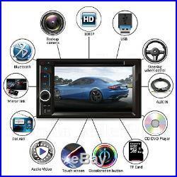 For Chevrolet 6.2'' Double Din Car Stereo Radio DVD Player+Rearview Backup Cam