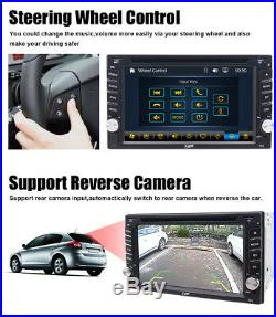 For Sony Lens Bluetooth Car Stereo DVD CD Player 6.2 Radio SD/USB In-Dash GPS