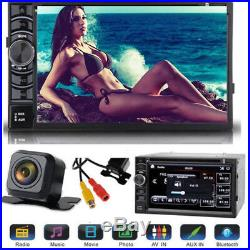 For Sony Lens Bluetooth Car Stereo DVD CD Player 6.2Radio SD/USB In-Dash Camera