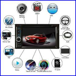 For Sony Lens Bluetooth Car Stereo DVD CD Player 6.2Radio SD/USB In-Dash+Camera
