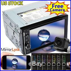 For Volkswagen Double Din 6.2'' Car Stereo Radio CD DVD Player with Backup Camera