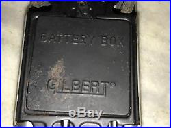 GILBERT JAMES BOND 007 ASTON MARTIN DB5 VINTAGE BATTERY TIN TOY 60s RARE WORKING