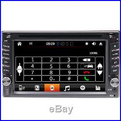GPS Navigation With Map Bluetooth Radio Double Din 6.2Car Stereo DVD Player