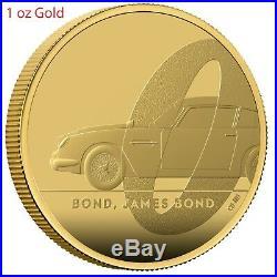 Great Britain UK 2020 £100 James Bond 007 Aston Martin DB5 Gold Proof 1oz Coin