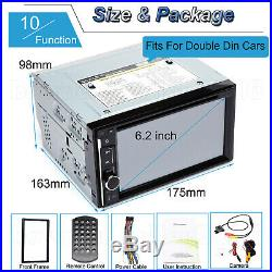 HD 2 Din In-dash Car Mirror For GPS Navigation Bluetooth Stereo MP3 Player Radio