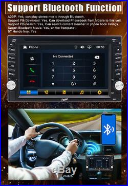 HD 6.2 Double 2 Din Car Stereo Radio DVD Player Bluetooth In Dash GPS Nav Map