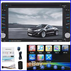 HD 6.2 In Dash Double 2 Din Car Stereo CD DVD Player GPS Navigation Bluetooth
