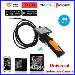 HD 8.5mm WIFI Endoscope Inspection Snake Camera Borescope For Android IOS iPhone