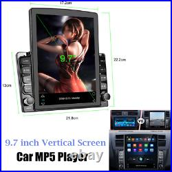 HD 9.7 2.5D Tempered Glass Mirror Auto Radio Stereo MP5 Player Android 8.1 GPS