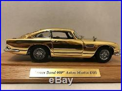 James Bond 007 22kt Gold Aston Martin Danbury Mint Very rare Please Read Info