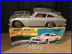 James Bond 007 friction aston Martin db5 by Gama made in Germany 1966 boxed rare