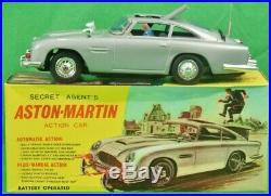James Bond-Inspired 007 Secret Agent's Aston-Martin DB5 Action Car in Box