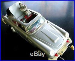 James Bond Secret Agent 007 Aston Martin Friction Tin Car Japan 711 Parts Repair