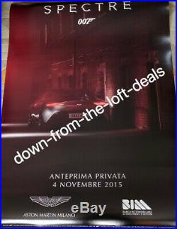 James Bond Spectre Aston Martin Milan Special Screening Premiere Poster 2, Rare