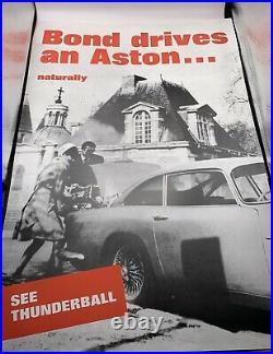 James Bond Thunderball 20 X 30 # 387/400, Aston Martin Limited Edition Poster