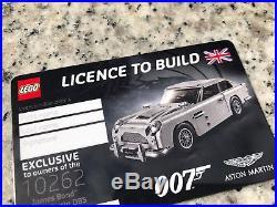 LEGO 10262 Aston Martin DB5 Creator Signed Bag & Box James Bond Build Exclusive
