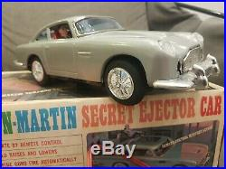 Large Aston Martin DB5 Secret Agent Car James Bond 007 withOrig. Box, Japan, 1965