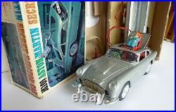M101 Secret Agent James Bond Aston Martin DB5 tinplate remote control car, Japan