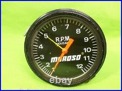 MOROSO Vintage 12K Tach Tachometer Gasser Rat Rod Hemi Mopar Ford GM