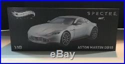 New ASTON MARTIN DB10 SILVER JAMES BOND 007 SPECTRE 1/18 ELITE ED HOTWHEELS