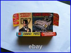 Original 1960's Corgi 261 James Bond Aston Martin DB5 with box, VGC