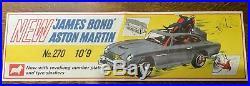 Original 1960s Corgi 270 James Bond Aston Martin DB5 shop dealer poster rare