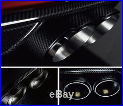 Pair Angle Adjustable Carbon Fiber Car Vehicle Exhaust Pipe Muffler Tip Modified