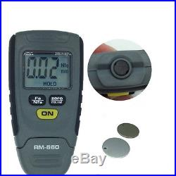 Portable Car Precision Paint Coating Thickness Tester Digital LCD Gauge 0-1.25mm