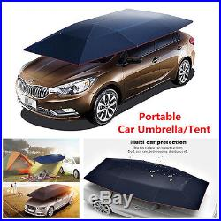 Portable Semi-automatic Outdoor Car Umbrella Sunshade Roof Cover UV Protection