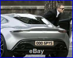 Private number plate James Bond 007 Spy Aston Martin Db9 Db10 Db11 DBS OO05 PYS