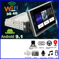 Quad-Core Android 9.0 WIFI 3G/4G 9 Single 1DIN Car Stereo Radio GPS Navi DAB+