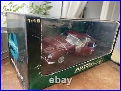 Rare AutoArt Aston Martin DB5 118 Car Dubonnet Rosso Original Colour Toy Model