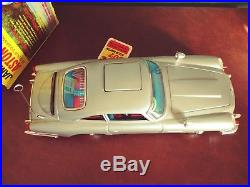 Rare Gilbert Japan 1965 Tin Battery James Bond 007 Aston Martin with Or. Box & Tag