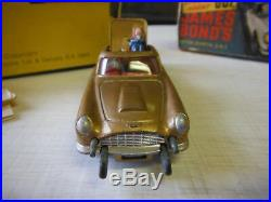Rare, Vintage 1965 Corgi James Bond, Gold Auston Martin In Original Box Complete
