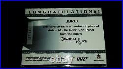 Rittenhouse James Bond 007 Daniel Craig QOS JBR13 Aston Martin Panel Relic Card