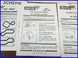 Scalextric James Bond original instructions with envelope