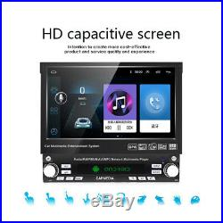 Single Din 7 Android 8.1 2GB RAM GPS Flip Up Car Stereo Radio Player USB SD Kit